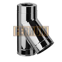 Тройник-сэндвич 135° Ferrum 430/0,8мм+Оц