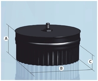 Заглушка c конденсатоотводом AGNI Моно 430/0,8мм