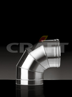 Отвод-сэндвич Craft 90 304/0,8мм теплоизоляция 50мм