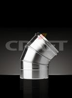 Отвод-сэндвич Craft 45 304/0,8мм теплоизоляция 50мм