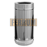 Труба-сэндвич Ferrum 0,5 м 430/0,5мм+нерж