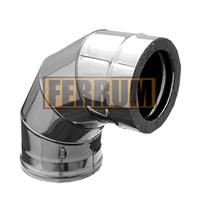 Отвод-сэндвич 90° Ferrum 430/0,5мм+Оц