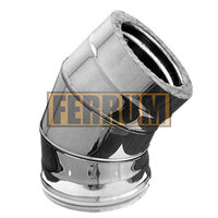 Отвод-сэндвич 135° Ferrum 430/0,5мм+Оц