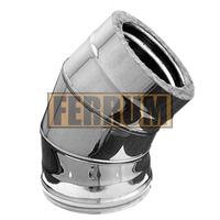 Отвод-сэндвич 135° Ferrum 430/0,8мм+нерж