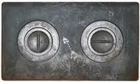 Чугунная плита двухконфорочная П2-1(Б) 585х340