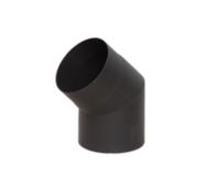Отвод LAVA черный 45°, сталь 2 мм