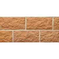 Терракотовая плитка Терракот Рваный камень Макси 263х123мм, 0,6 м2